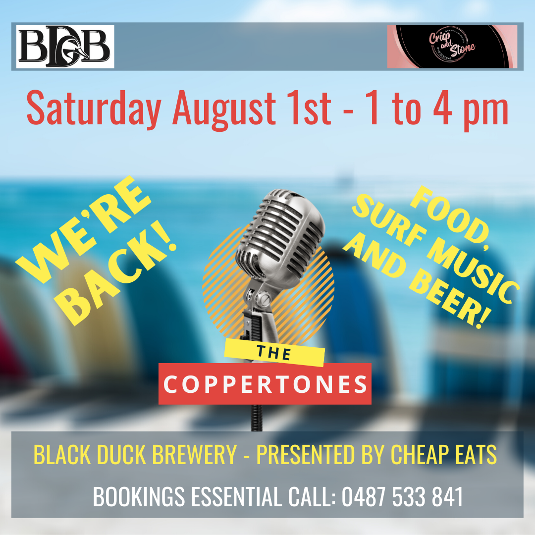 BLACK DUCK BREWERY – AUGUST 1st 2020 | 1pm to 4pm